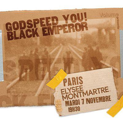 Agenda : Godspeed You! Black Emperor à l'Élysée Montmartre, le 7 novembre 2017