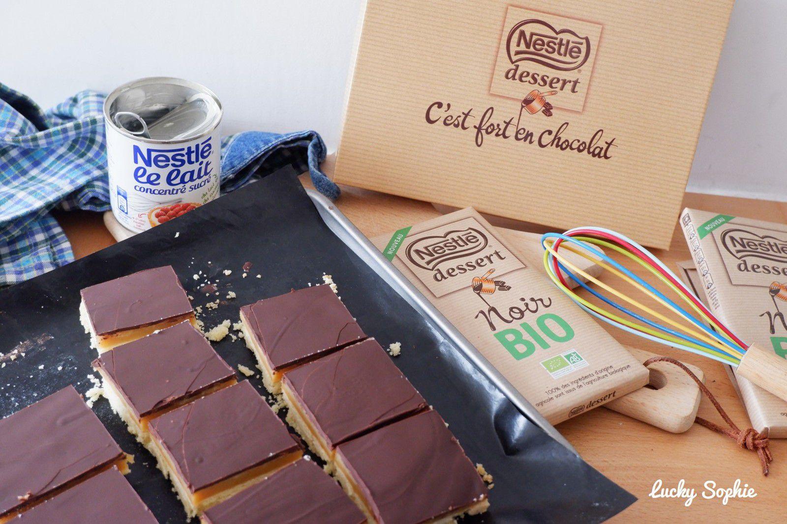 Recette de shortbread millionnaire au chocolat noir