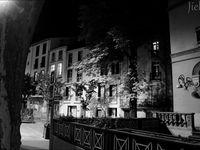 Céret la nuit... en noir & blanc