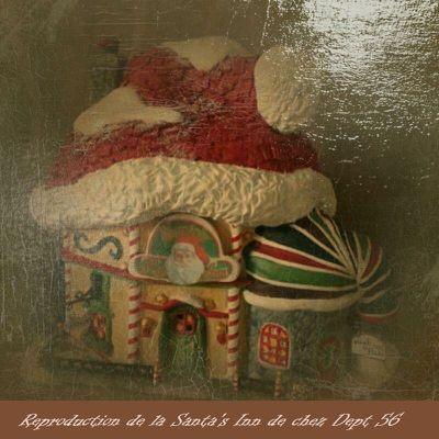La Santa's Inn de chez Dept 56 - Reproduction.