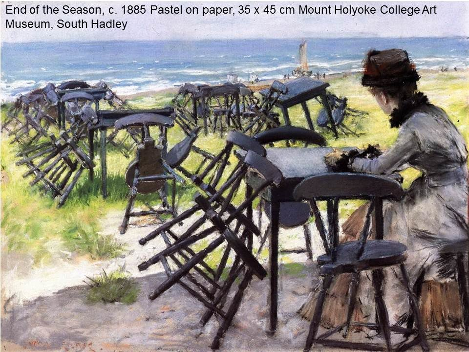 "oeuvres du cours ""peinture impressionniste américaine"": james Whishler, William Chase, John Sargent, Mary Cassatt"