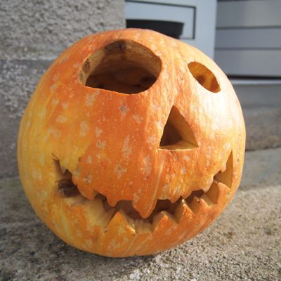 Notre courge d'Halloween