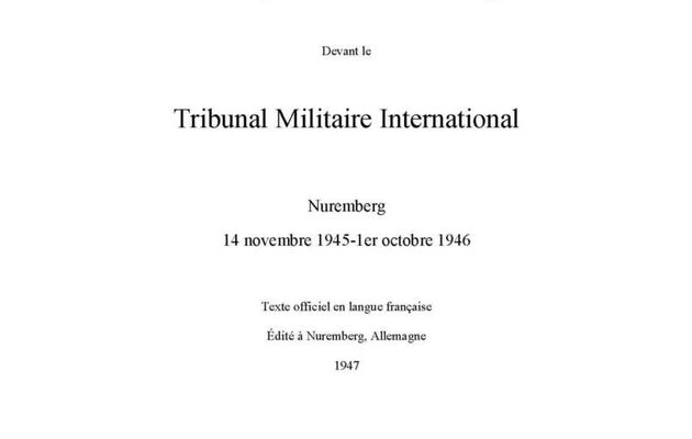 Jugement du Tribunal internation de Nuremberg