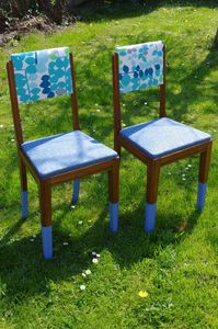 "Chaises ""heure bleue"""