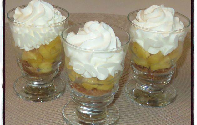 Verrines pomme caramélisées