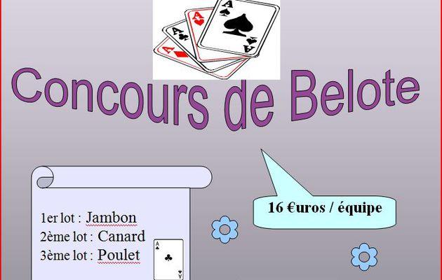 BUSSIERES ET PRUNS - Dimanche 21 mars - 14 h - Concours de belote