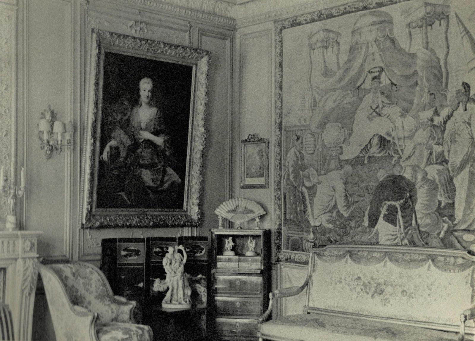 Vue du tableau dans le salon parisien des Lacaze, rue Magdebourg © d.r.