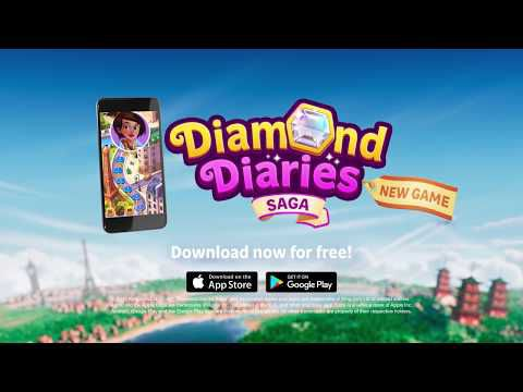 ACTUALITE : #King lance son nouveau jeu mobile #DiamondDiariesSaga