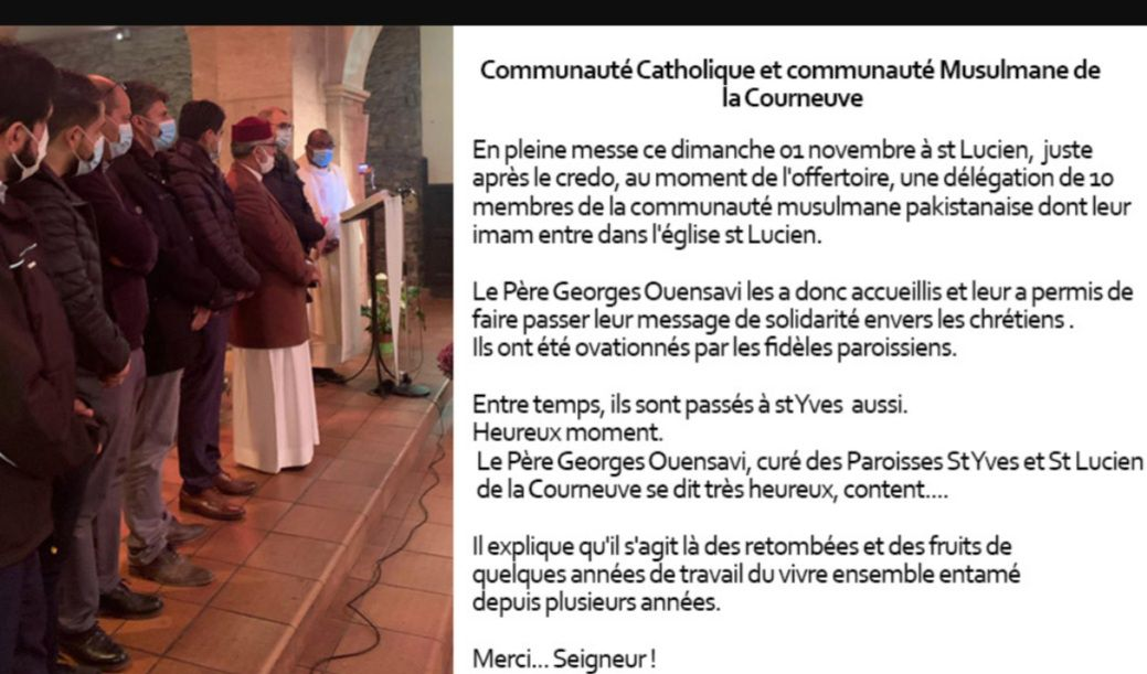 Visite à la paroisse Saint Lucien de musulmans de la Courneuve et de la Fédération des musulmans de France