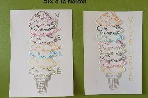 Vive l'été et ses glaces! DIY (carte pour maîtresse, atsem, maître ...)