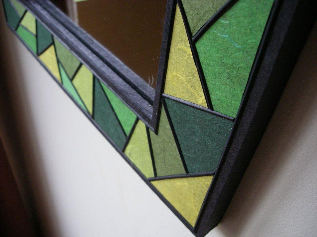Camaïeux de papier végétal sur carton ondulé