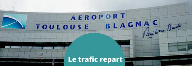 En juin, le trafic aérien repart à Toulouse