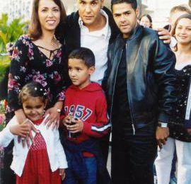 Jamel debbouze et sa famille