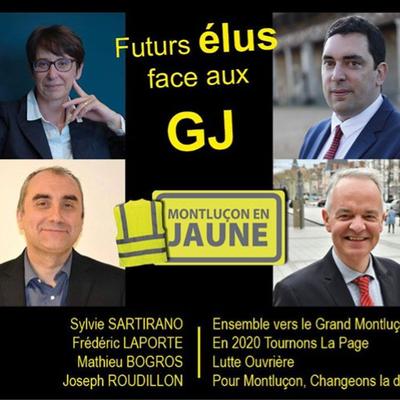 Montluçon : Les Gilets jaunes face aux futurs élus