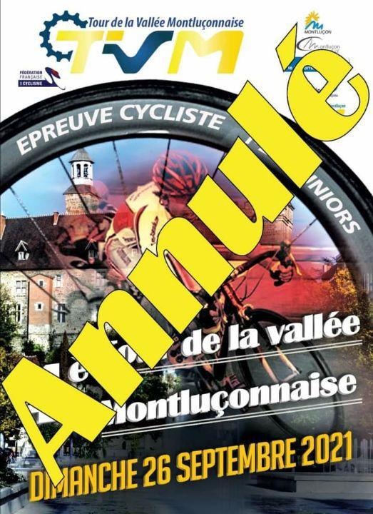 Le Tour de la Vallée Montluçonnaise est annulé
