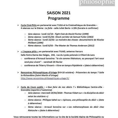 Programme Saison 2021
