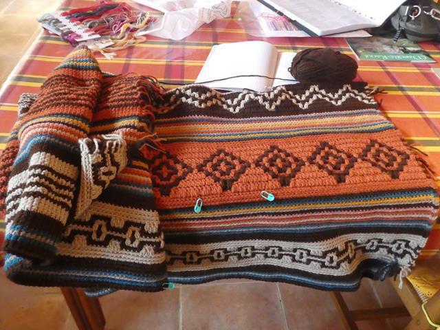 Ma couverture au crochet mosaïque...