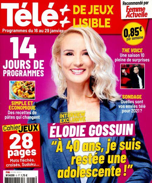 La une de 11 nouveaux numéros de la presse TV : Élodie Gossuin, Hélène Rollès, Carole Bouquet...