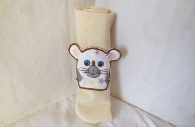 Rond de serviette souris pour enfant