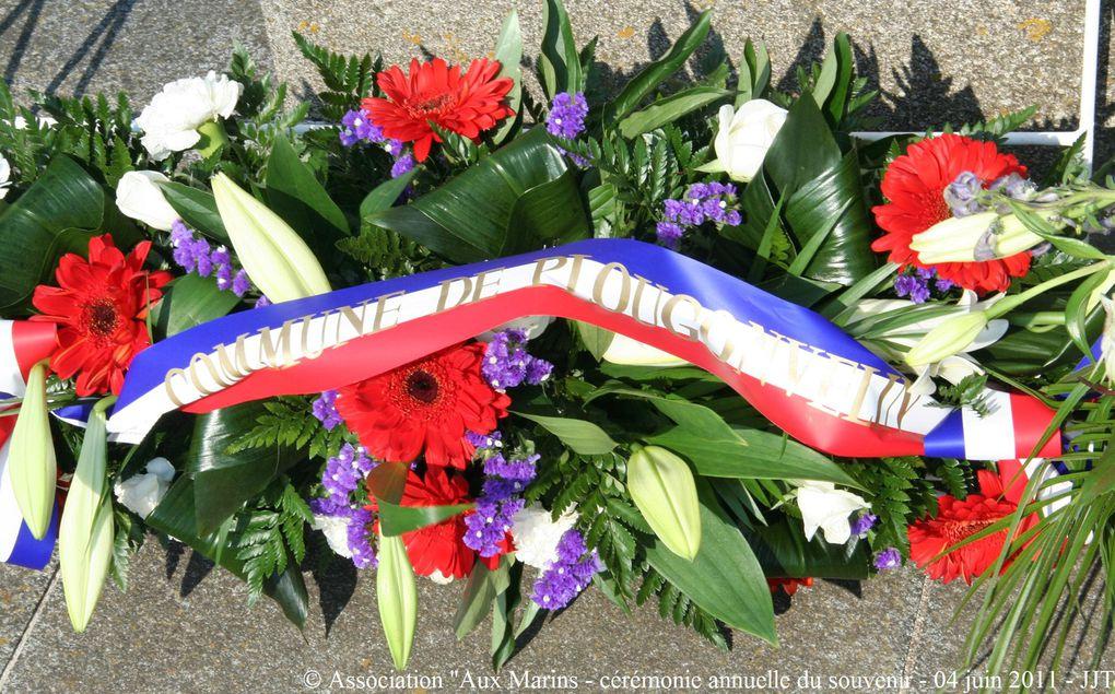 """Samedi 4 juin 2011,Cérémonie du souvenir à la mémoire de tous les marins disparus organisée par l'association """"Aux Marins"""" au Mémorial National des marins morts pour la France de la Pointe Saint Mathieu en Plougonvelin (Pays d'Iroise)(3ème par"""