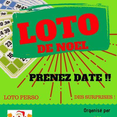 Prenez date : LOTO DE NOEL le dimanche 16 décembre !!!