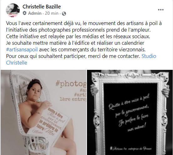 Studio Christelle lance un calendrier #artisansapoil avec les commerçants vierzonnais
