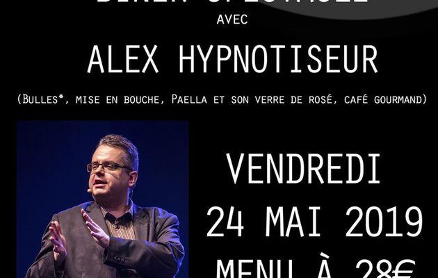 UN DINER SPECTACLE AVEC ALEX, L'HYPNOTISEUR....à LA VERRIÈRE...LE 24 MAI...