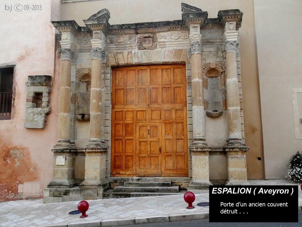 ETAPE 7 - EGLISE de TREDOU - rues et portes d' ESPALION