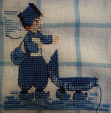 """Broderie: Torchon """"Pays Bas"""", 8."""