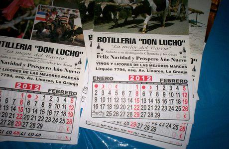 """Diseño e Impresión de Calendarios Murales para """"Botillería Don Lucho"""""""