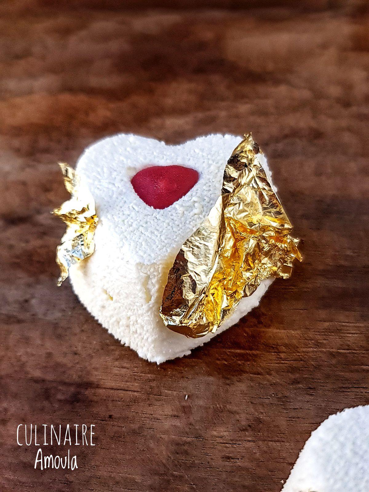 Petits entremets de Saint Valentin