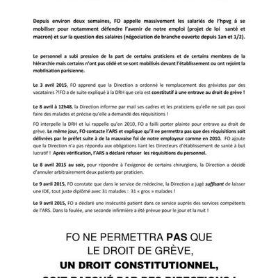 Succès de la mobilisation interpo du 9 avril 2015