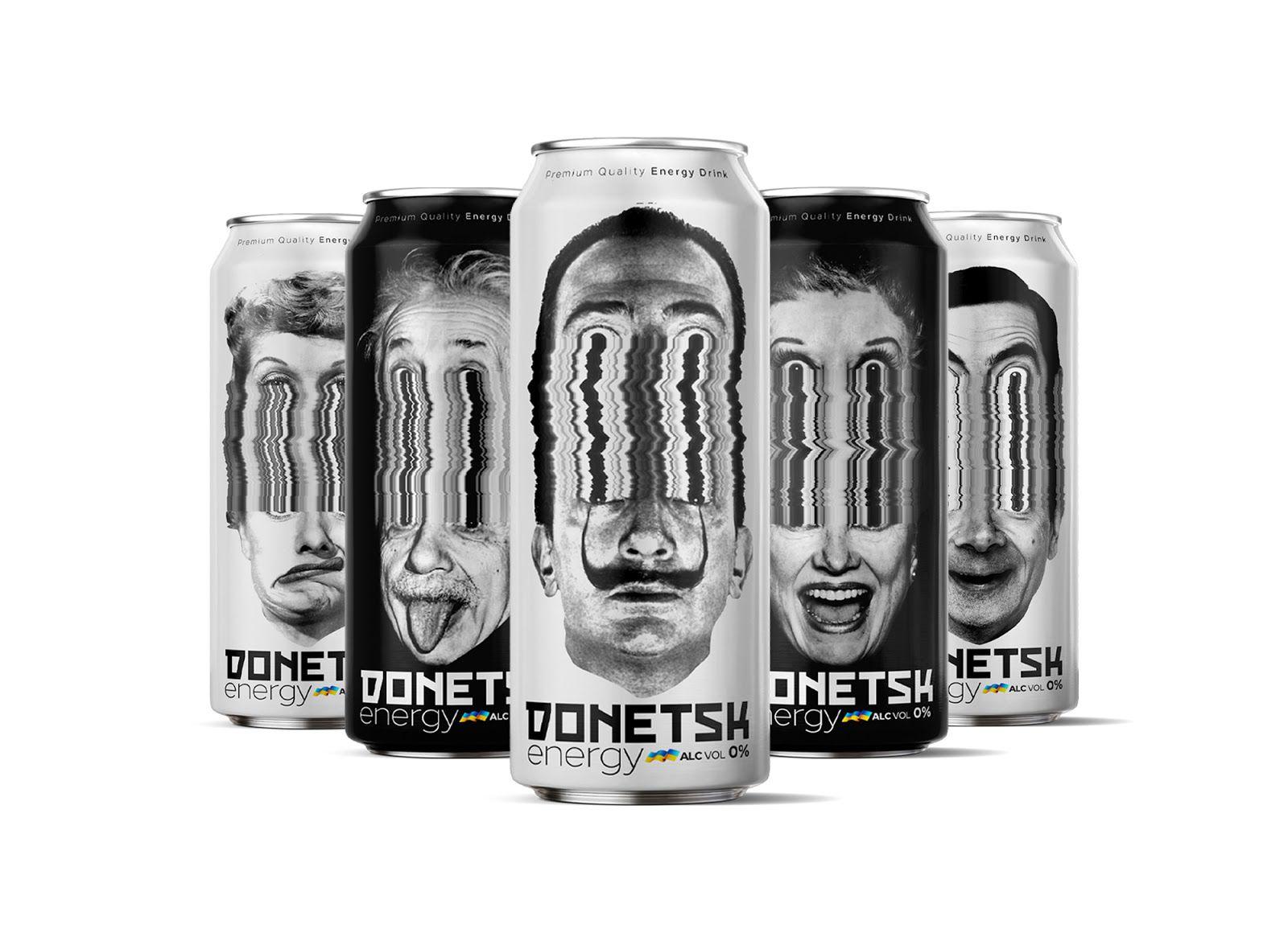 Donetsk Energy Drink (boisson énergisante) I Design :  Studio Metis, Iran (février 2021)