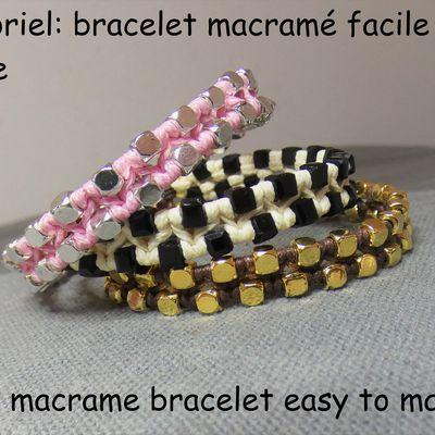Tutoriel: bracelet macramé facile à faire