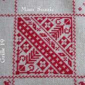SAL : Plaid Broderie Rouge... Grille 19/I 5 - Chez Mamigoz
