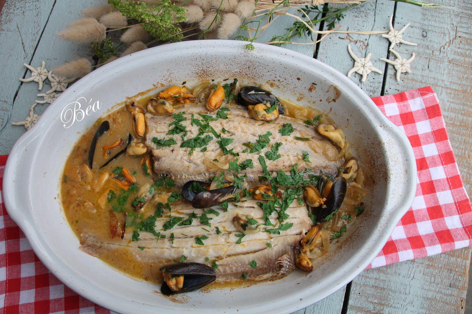 Sole en matelote à la crème de rouille (ou 2ème version à la normande) - balade bretonne à Guidel