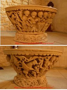 Pila bautismal de Colmenares de Ojeda (Dehesa de Montejo-Palencia).