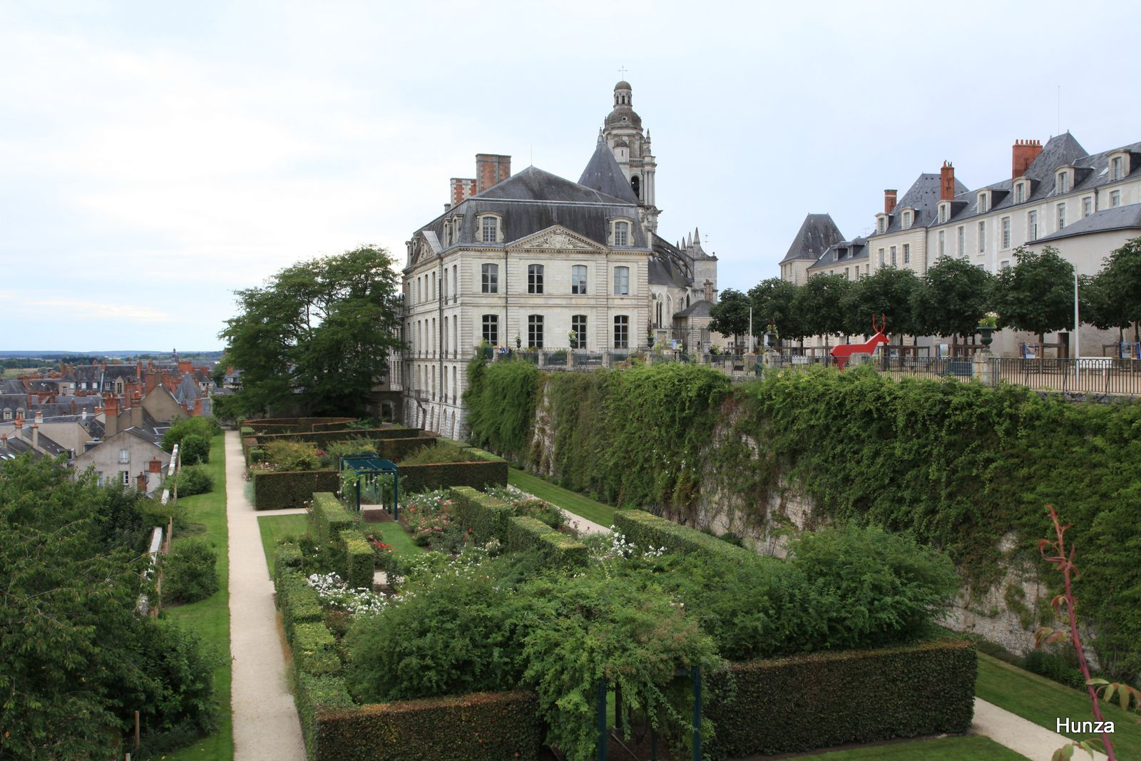 Blois, jardin de l'Evêché