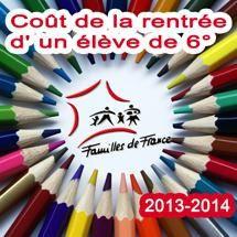 Familles de France : Hausse du coût de la rentrée scolaire 2013