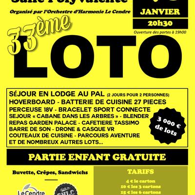À venir : 33ème loto de l'Orchestre d'Harmonie Le Cendre