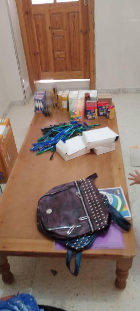 35 kits scolaires seront distribué aujourd'hui inchallah
