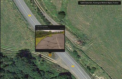 Cantal - glissement de terrain sur D16 proche St Saturnin