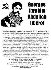 Photos de manifestations et de rassemblements avec la présence du collectif pour la libération de Georges Ibrahim Abdallah