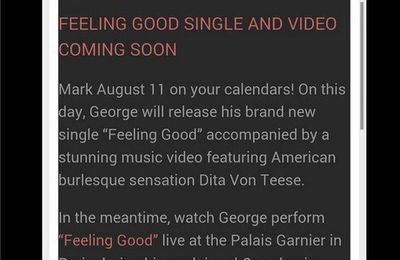 Feeling Good nouveau single le 18 août !!