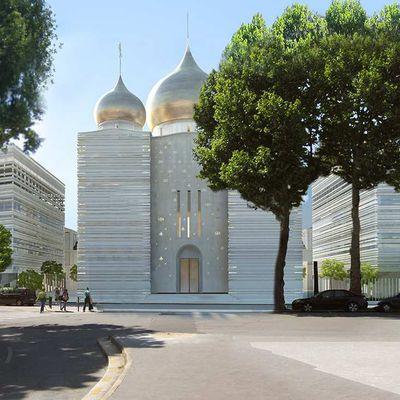 Façade du centre culturel russe à Paris