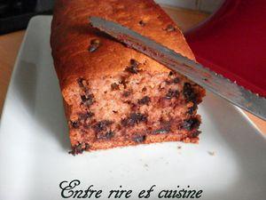 Cake à la Compote de pomme, cannelle et pépites de chocolat {sans oeufs}