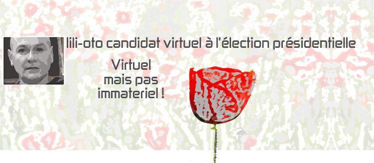 election presidentielle 2012, lili-oto candidat virtuel campagne politique aux élections France