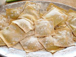 Raviolis au beurre de sauge