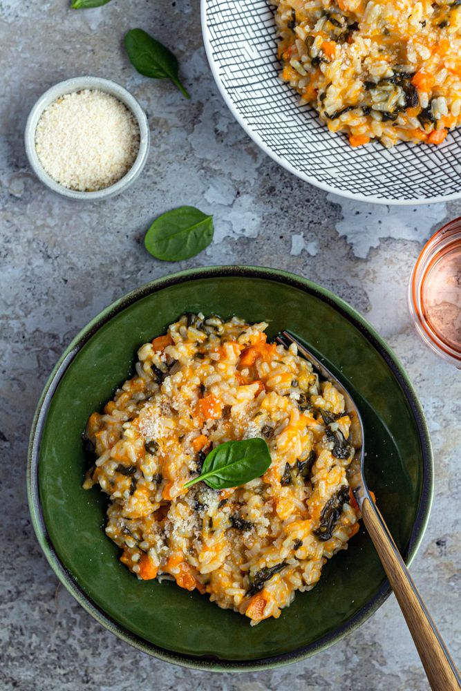 risotto courge épinards cookeo