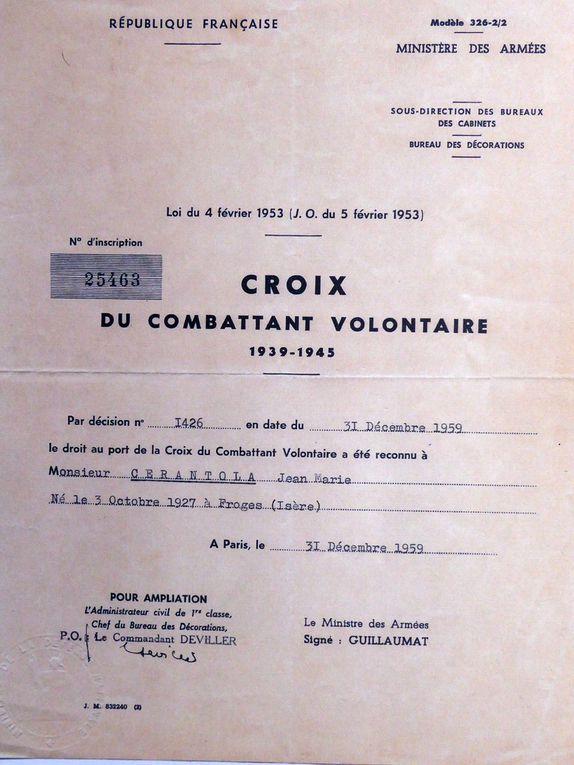 Devoir de Mémoire, Jean Cérantola (Résistant et Maire de Froges)